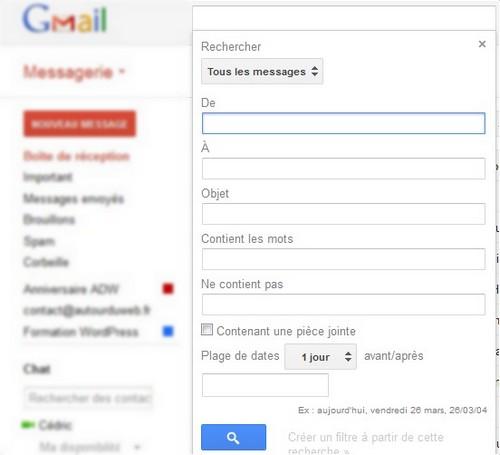 moteur de recherche gmail