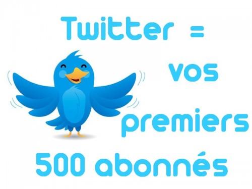twitter 500 abonnes 500x375 Twitter : 10 conseils pour obtenir vos premiers 500 abonnés
