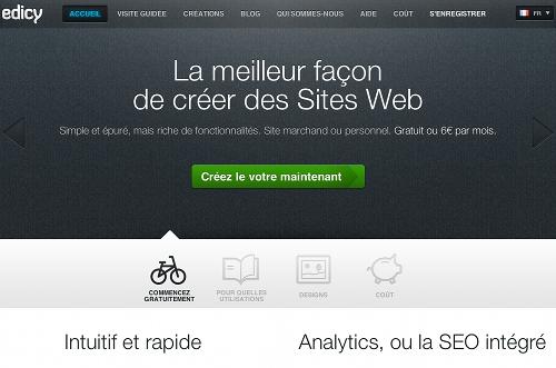 edicy 5 ressources pour créer un site Web gratuit