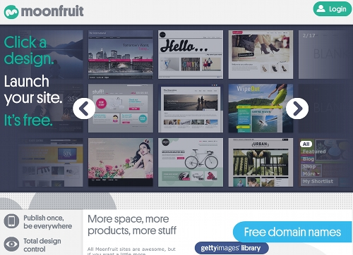 moonfruit 5 ressources pour créer un site Web gratuit