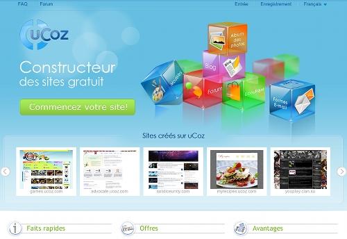 ucoz 5 ressources pour créer un site Web gratuit