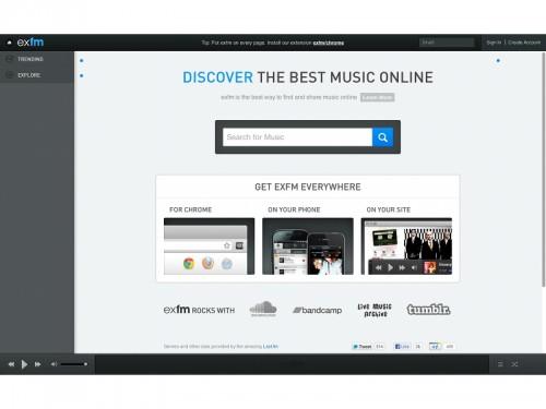 exfm 500x375 Ex.fm, écoute musicale gratuite en ligne