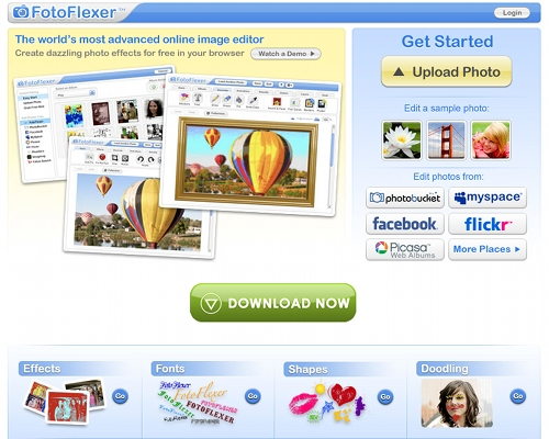 fotoflexer 7 outils en ligne pour créer une couverture Facebook (Facebook Timeline Cover)