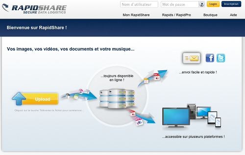 rapidshare Remplacer MegaUpload : 5 sites