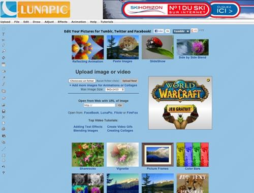 lunapic 7 outils en ligne pour créer une couverture Facebook (Facebook Timeline Cover)