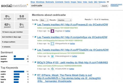 socialmention 5 outils pour gérer la e réputation d'un blogueur