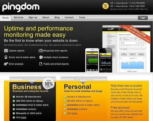 pingdom 11 outils pour faire du monitoring sur un blog (ou un site)