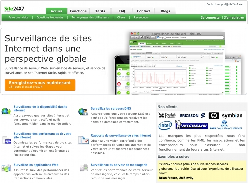 site24x7 11 outils pour faire du monitoring sur un blog (ou un site)