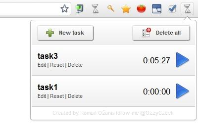 Chrome Time Track