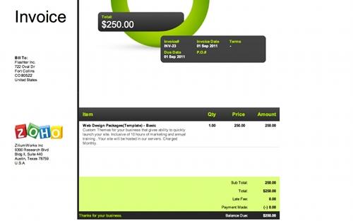zoho invoice 5 extensions Chrome pour créer des factures