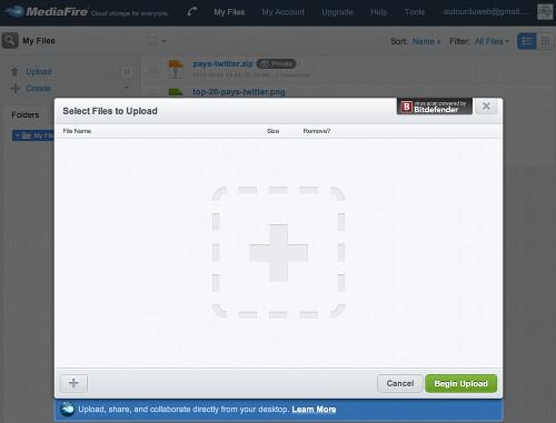 mediafire envoi Mediafire, un disque dur virtuel gratuit avec 50Go