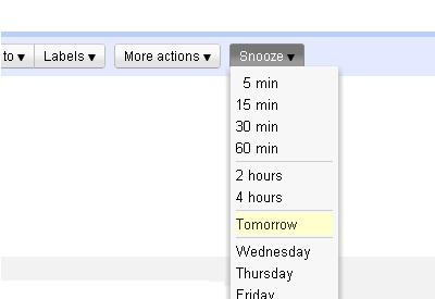 snooze votre email
