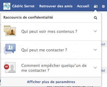 parametres confidentialite facebook 5 conseils pour éviter de se faire hacker un compte Facebook