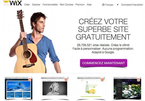 wix 5 services en ligne pour créer un espace personnel gratuit et professionnel