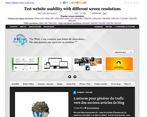 Website resolution tool