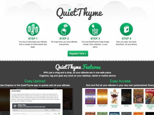 Quietthyme cr er une biblioth que virtuelle en ligne gratuite autour du web - Creer une bibliotheque ...