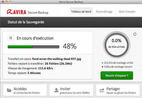 avira-secure-backup-tableau-bord