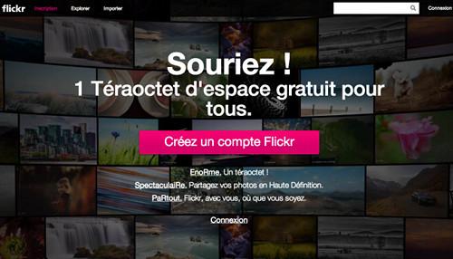 flickr 5 services en ligne offrant 1 Téraoctet despace gratuit