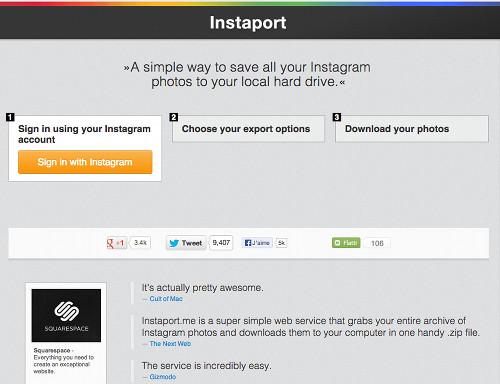 instaport 5 services Web pour profiter pleinement de Instagram