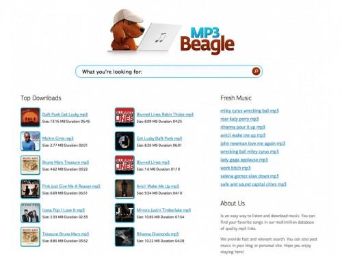 mp3beagle 500x375 Mp3Beagle, écouter et télécharger de la musique gratuitement