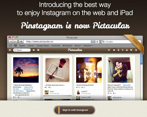 pictacular 5 services Web pour profiter pleinement de Instagram