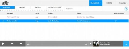 tableau bord mymusiccloud 500x192 My Music Cloud, pour lire de la musique en ligne et hors ligne