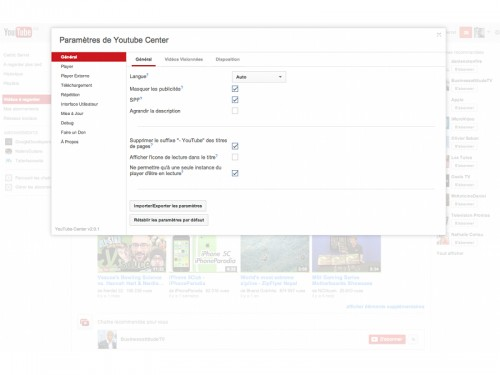 youtube center 500x375 YouTube Center, une puissante extension pour ajouter plus de 100 options supplémentaires à YouTube