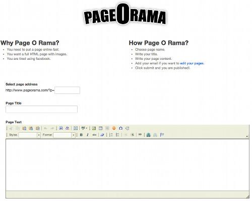 pageorama 5 services en ligne pour créer rapidement une page Web