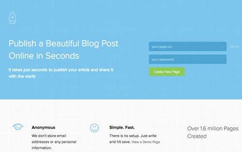 pen Les meilleures plates formes minimalistes de blogging