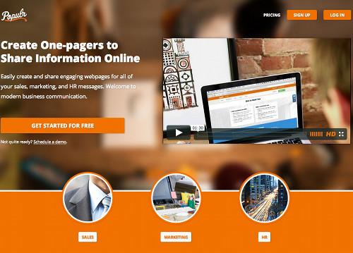 populr 5 services en ligne pour créer rapidement une page Web