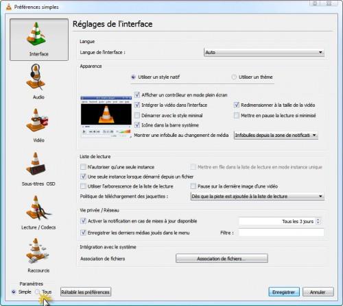 interface web VLC1
