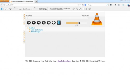 interface web VLC5