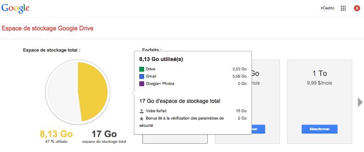 5 tapes pour lib rer de l 39 espace de stockage sur google drive autour du web. Black Bedroom Furniture Sets. Home Design Ideas
