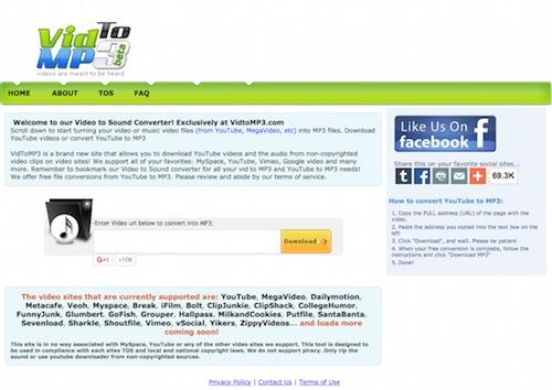 3 outils en ligne pour convertir des vid os youtube en mp3 autour du web. Black Bedroom Furniture Sets. Home Design Ideas